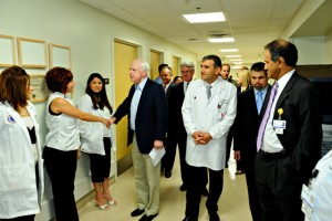 Dr. Dib and Senator John McCain during a recent visit to Mercy Gilbert & Chandler Regional Medical Centers.